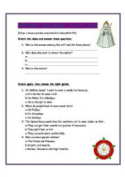 English Worksheet: Horrible Histories: Tudor Laws