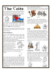 English Worksheet: Iron Celts