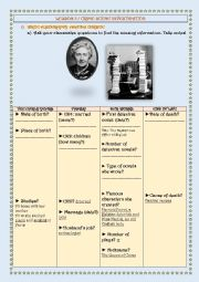 English Worksheet: CRIME SCENE INVESTIGATION - Agatha Christie�s biography