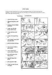 English Worksheet: Blank Story Board with Lord of the Flies Example