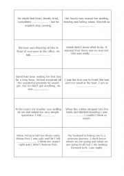 Emotions/feelings vocabulary card game