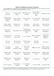 English worksheet: Mistake or No Mistake Board Game