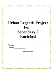 English Worksheet: Urban Legends for Secondary 2