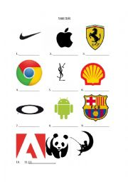 English worksheets: logo worksheets