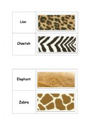 English Worksheet: African Animals Domino part1