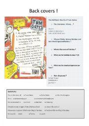 English Worksheet: Back cover The Brilliant world of Tom Gates