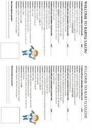English Worksheet: Hair salon conversation