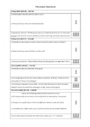 English Worksheet: Stand by me Film analysis