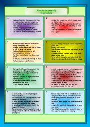 English Worksheet: What�s the word? 7 (intermediate)
