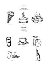 English Worksheet: Desserts and beverages