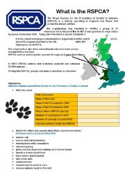 English Worksheet: RSPCA - origin & advert analysis