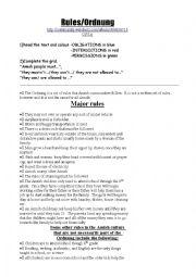 English Worksheet: Amish rules