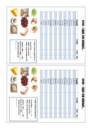 English Worksheet: FOOD - LIKES AND DISLIKES