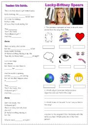 English Worksheet: Simple Present - Song