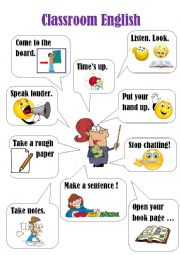 English Worksheet: Classroom English poster (3)