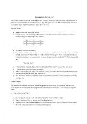 English Worksheet: Grammatical Tic Tac Toe