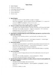 English Worksheet: IELTS, Writing Task 2 - structure and phrases