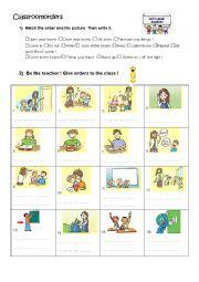 English Worksheet: Classroom orders