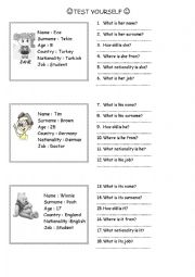 English Worksheet: Introducing yourself