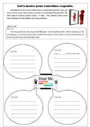 English Worksheets Make Your Own Time Capsule