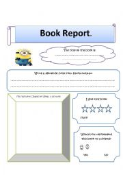 English Worksheet: Book report