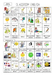 English Worksheet: Classroom English Part 2