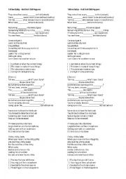 English Worksheet: Tell me Baby - Red Hot Chili Peppers Song Worksheet