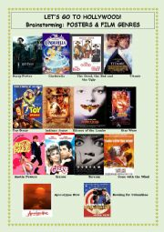 English Worksheet: Let�s Go To Hollywood - Part 1 - Posters & Film Genres