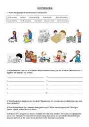 English worksheet: ORAL SKILLS: Sharing a flat, sharing the housework ROLE PLAY