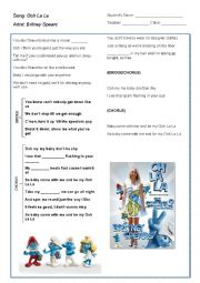 English Worksheet: Ooh La La (Britney Spears´ Song)