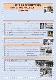 English Worksheet: THE HOLOCAUST - TIMELINE - 1
