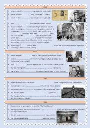 English Worksheet: THE HOLOCAUST - TIMELINE - 2