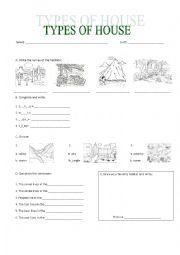 English Worksheet: TYPES OF HABITATS