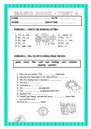 English worksheet: Review for young learners - Magic Book