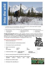 English Worksheet: Into the wild (movie)