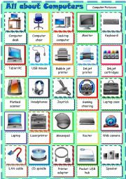 English Worksheet: All about Computers