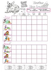 English Worksheet: Easter egg hunting battleship