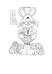 English Worksheet: Happy Easter!