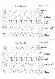 english worksheets animals mouse squirrel spider fish bird. Black Bedroom Furniture Sets. Home Design Ideas