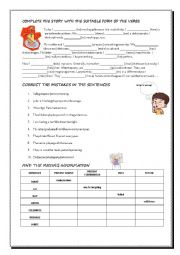 English Worksheet: Revision of Tenses