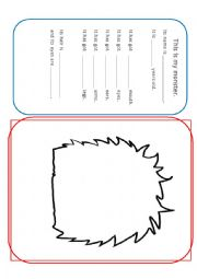 English Worksheet: Body Parts Monster