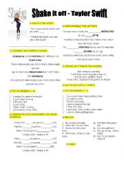 English Worksheet: Song - Shake it off - Taylor Swift