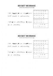 english worksheets secret message inspirational quotes