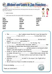 English Worksheet: Michael and Laura in San Francisco 3