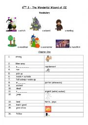 English Worksheet: Vocabulary for Black Cat Reader The Wonderful Wizard of OZ