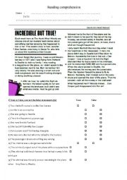 English Worksheet: crime newspaper article