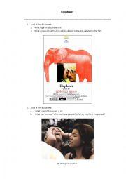 English Worksheet: Elephant by Gus Van Sant