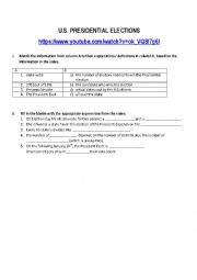 English Worksheet: U.s. Presidential elections