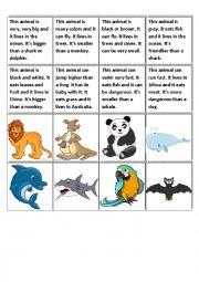 describe the animal esl worksheet by fluca. Black Bedroom Furniture Sets. Home Design Ideas
