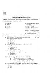 English Worksheet: Mesopotamia Quiz